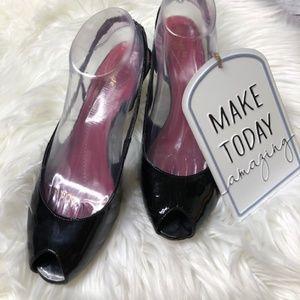 KATE SPADE Sling Back Stiletto Heels Peep Toe Shoe
